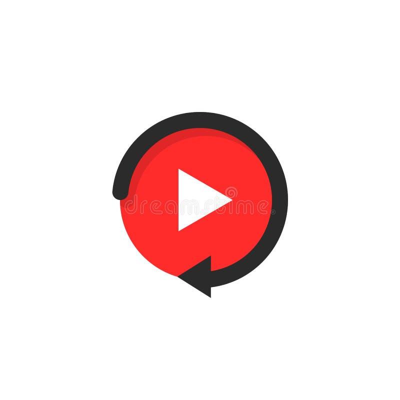 Значок воспроизведения любит видео- кнопка игры бесплатная иллюстрация