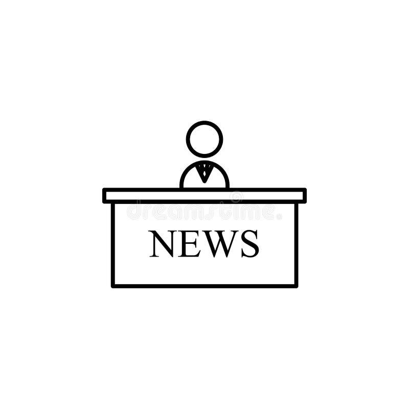 Значок вручителя новостей Элемент журналиста для передвижной иллюстрации apps концепции и сети Иллюстрация для дизайна и devel ве бесплатная иллюстрация