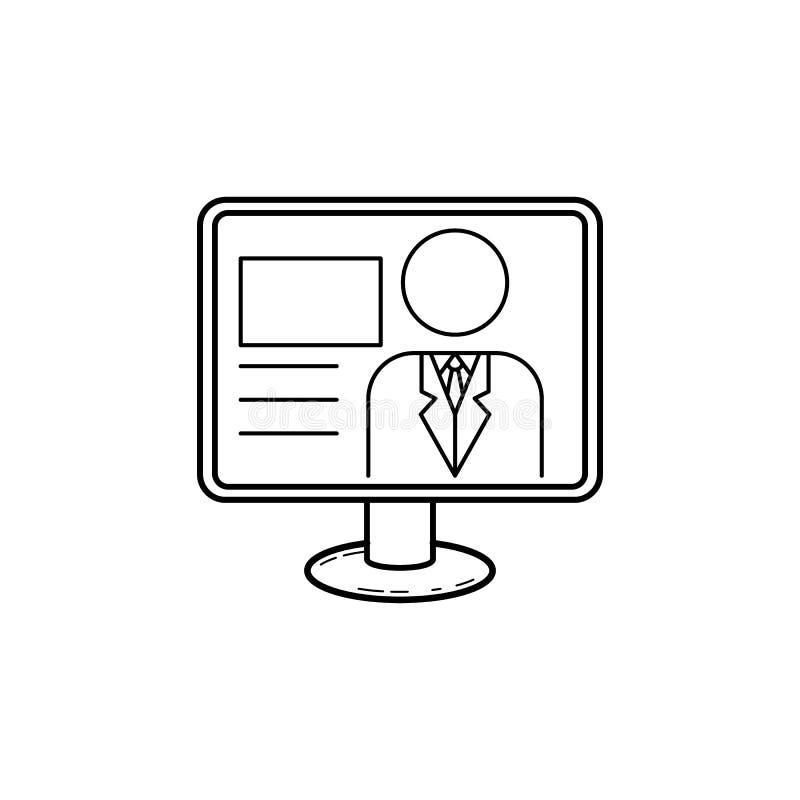Значок вручителя ТВ Средства массовой информации подписывают для передвижных apps концепции и сети Тонкая линия значок для дизайн иллюстрация штока