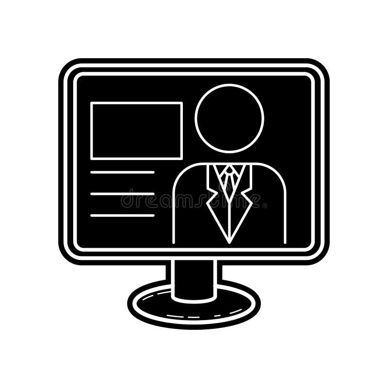 Значок вручителя ТВ Элемент инструмента средств массовой информации для мобильных концепции и значка приложений сети Глиф, плоски иллюстрация штока