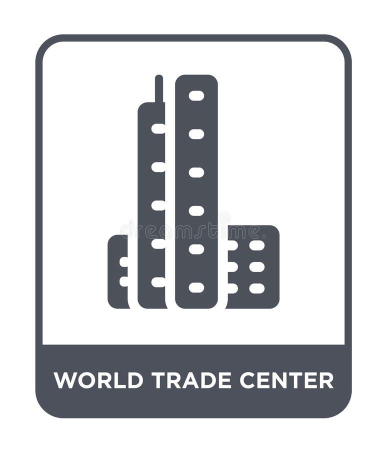 значок всемирного торгового центра в ультрамодном стиле дизайна значок всемирного торгового центра изолированный на белой предпос иллюстрация штока