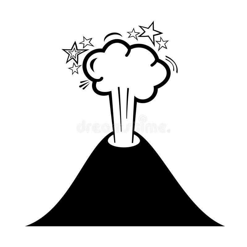 Значок вулкана бесплатная иллюстрация