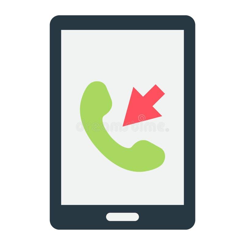 Значок входящего звонка плоский, контактирует нас и вебсайт иллюстрация вектора