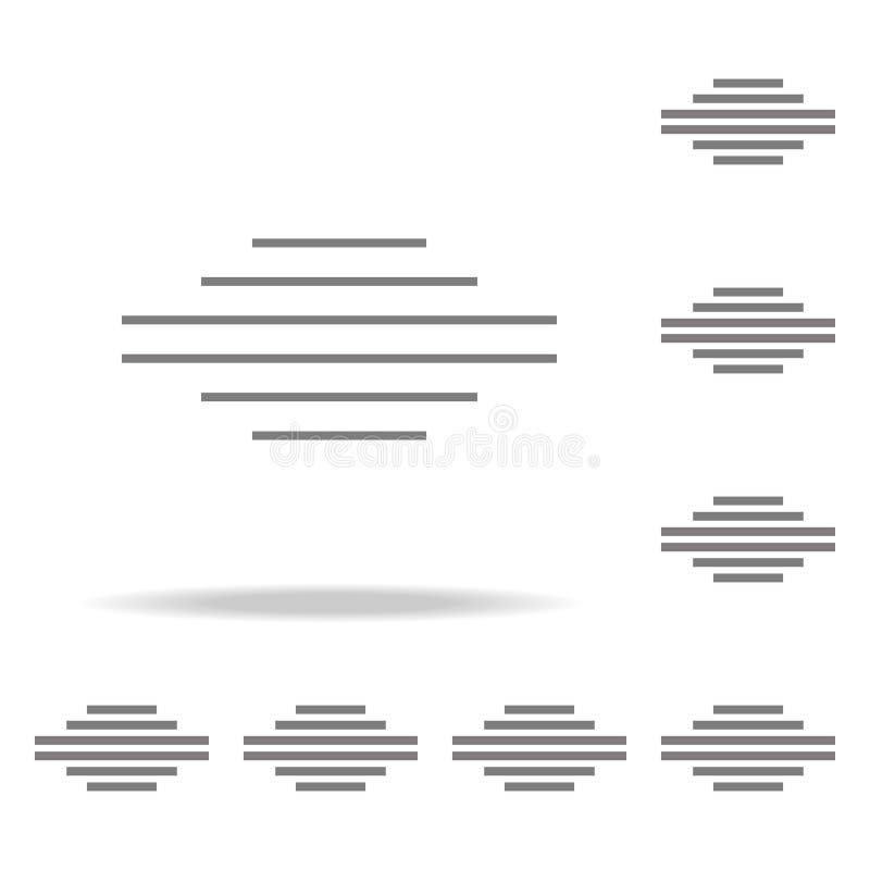 Значок выравнивает значок разбивочного графического дизайна текста одиночный Элементы в multi покрашенных значках для передвижных иллюстрация вектора