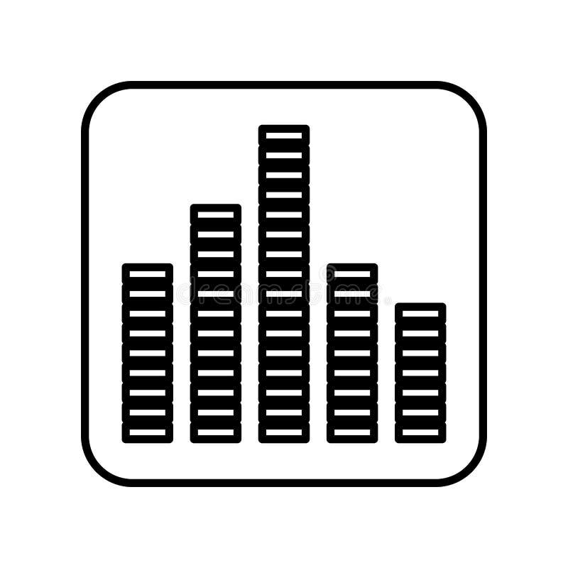 Значок выравнивателя изолированный звуком бесплатная иллюстрация