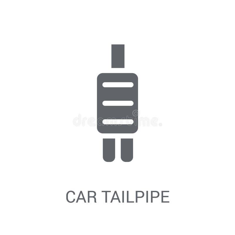 значок выхлопной трубы автомобиля  иллюстрация штока