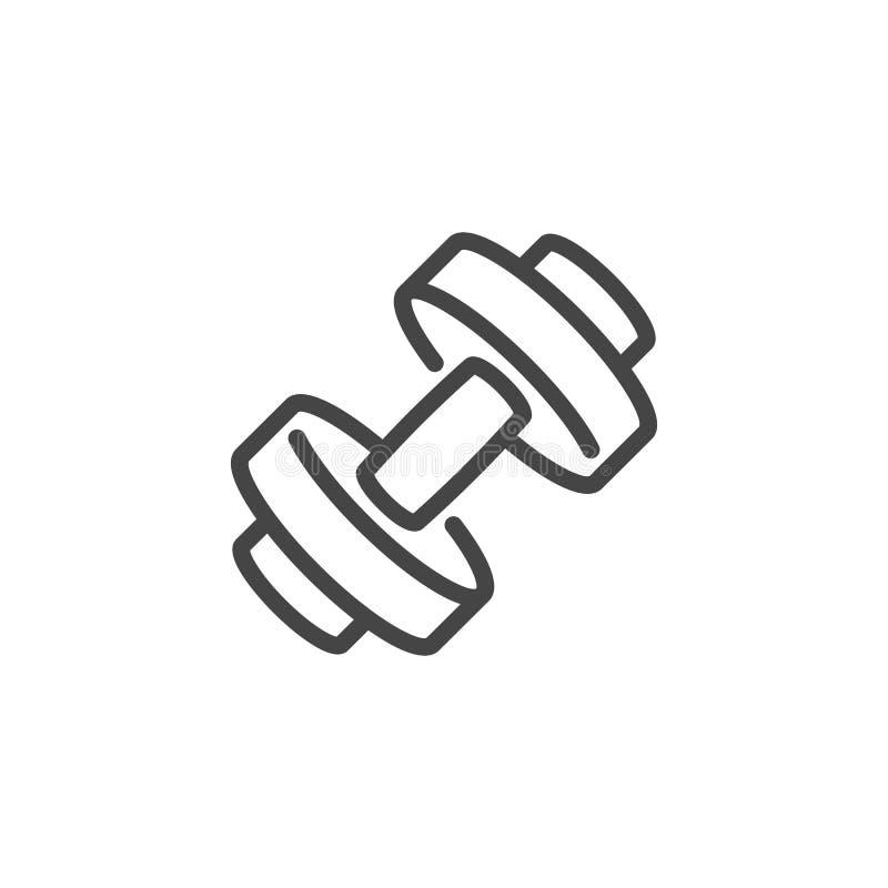 Значок гантели Ярлык для спортивного магазина, спортзала, класса фитнеса, атлетической тренировки Здоровые образ жизни и концепци бесплатная иллюстрация