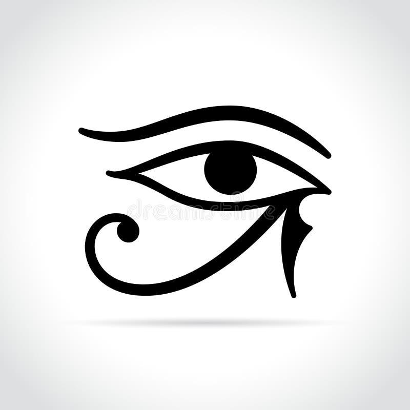 Значок глаза Horus на белой предпосылке иллюстрация штока