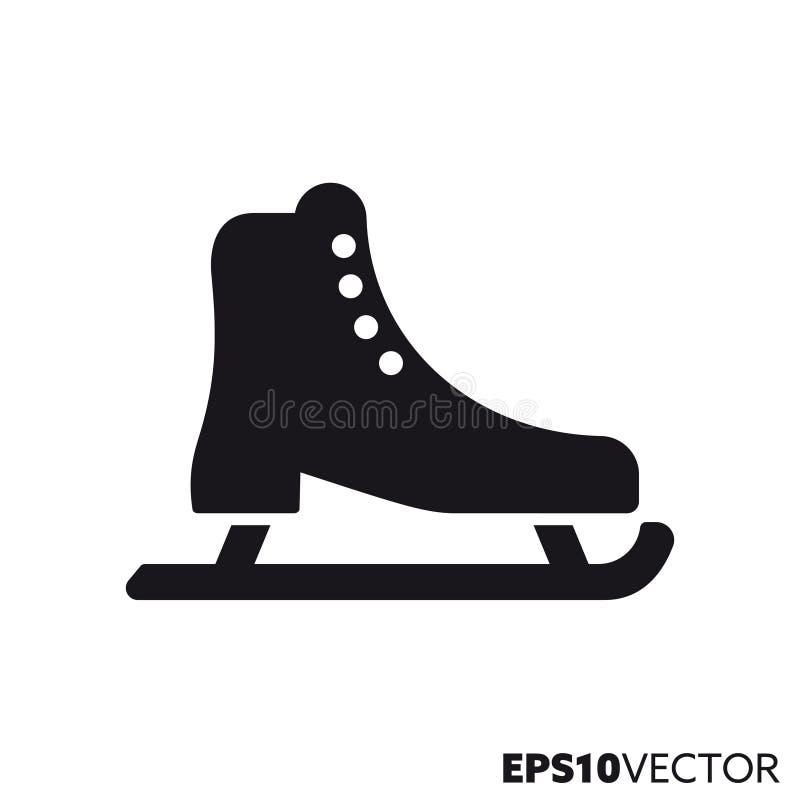 Значок глифа вектора ботинка катания на коньках бесплатная иллюстрация