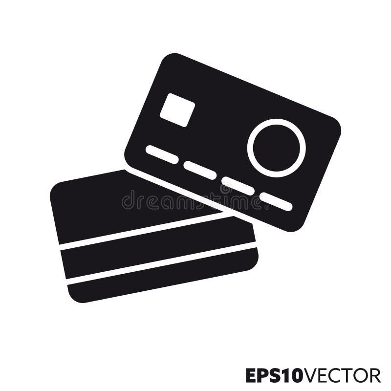 Значок глифа вектора кредитных карточек бесплатная иллюстрация