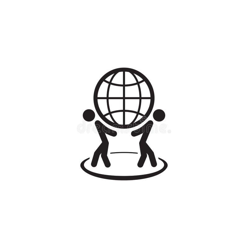Значок глобального бизнеса r бесплатная иллюстрация