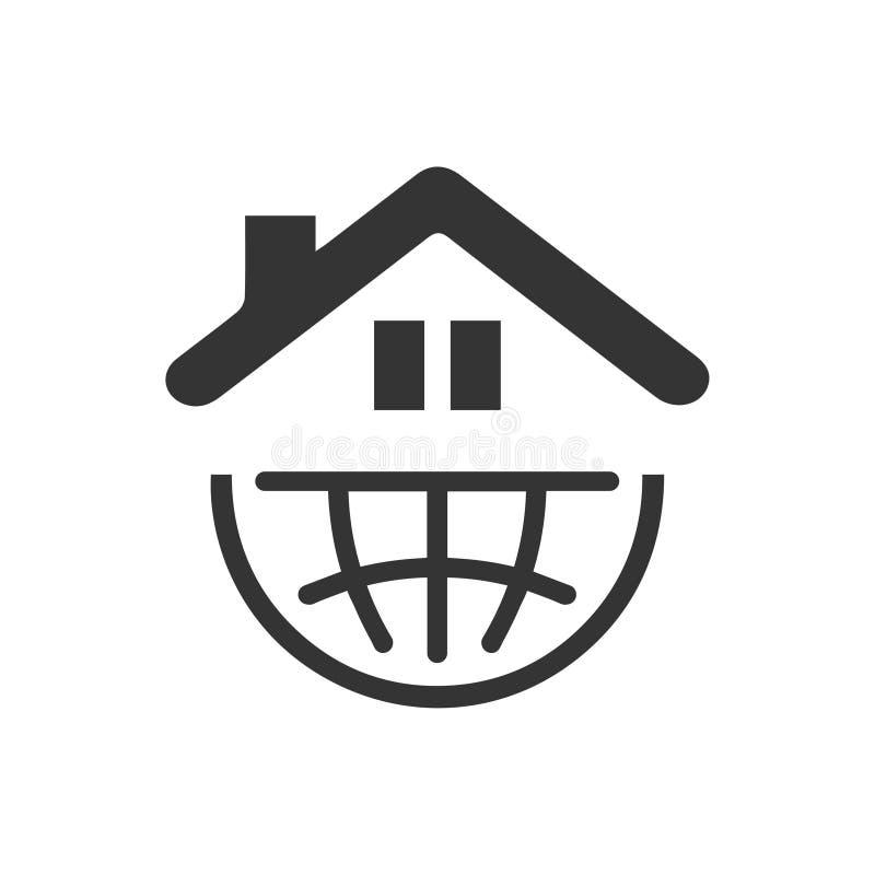 Значок Глобальный Недвижимости Компании бесплатная иллюстрация