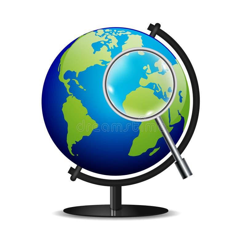 Значок глобуса вектора мира стоковые изображения