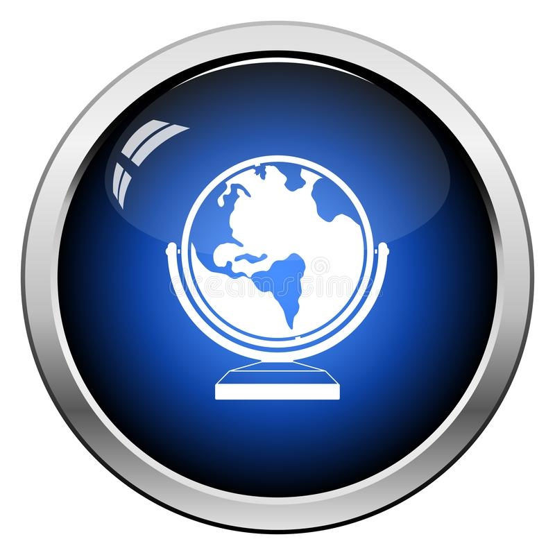 Значок глобуса иллюстрация вектора