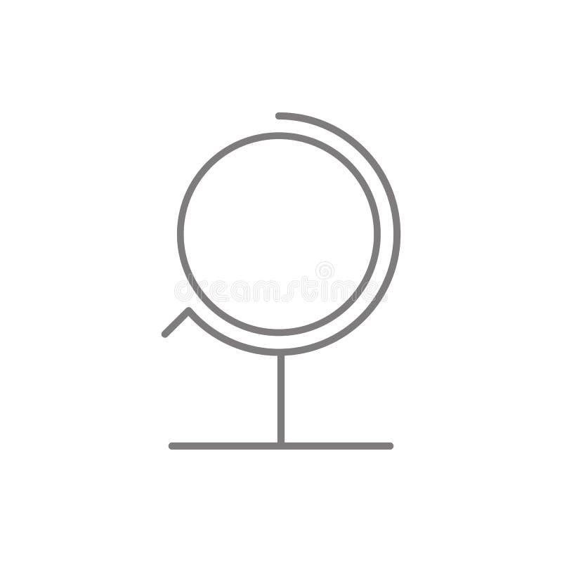 Значок глобуса Элемент безопасности кибер для мобильных концепции и значка приложений сети Тонкая линия значок для дизайна вебсай бесплатная иллюстрация