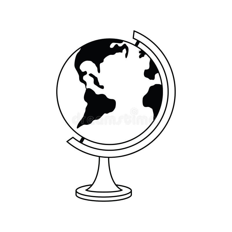 Значок глобуса иллюстрация штока
