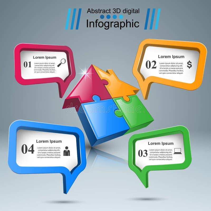 Значок головоломки дома Дело Infographic бесплатная иллюстрация