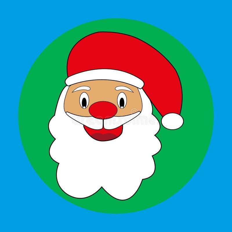 Значок головы Санта Клауса иллюстрация штока