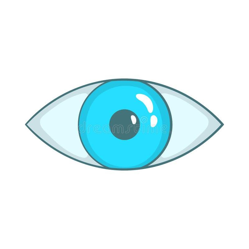 Значок голубого глаза в стиле шаржа бесплатная иллюстрация