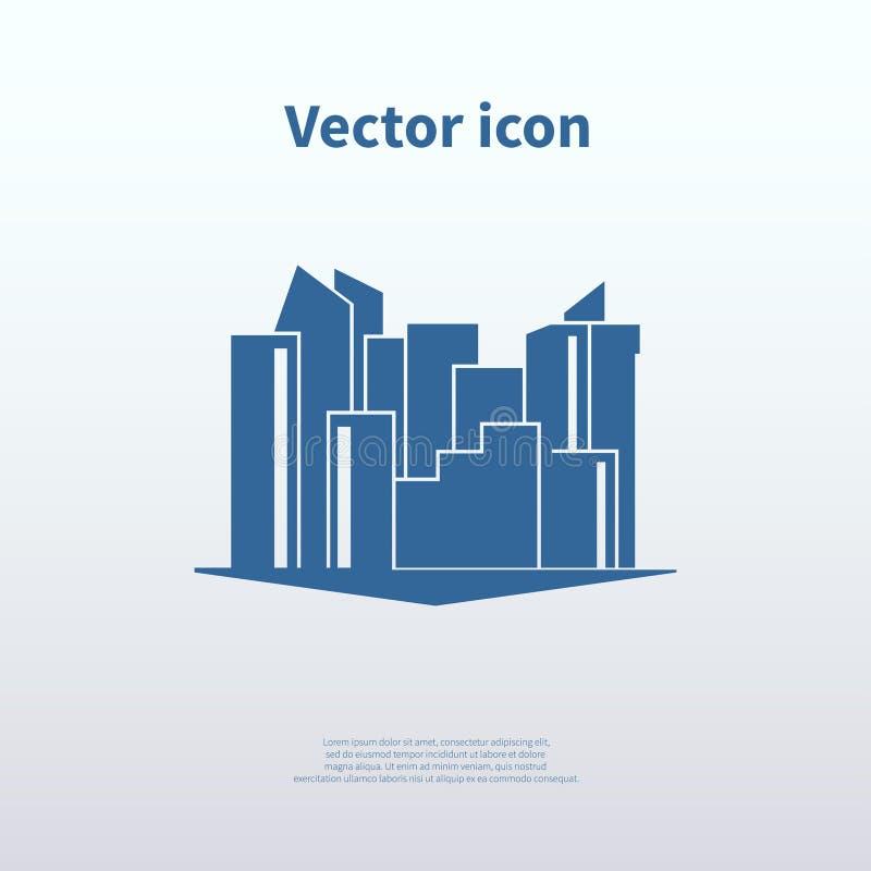 Значок города иллюстрация вектора