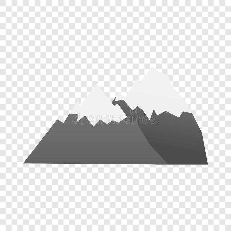 Значок горы, стиль мультфильма иллюстрация штока