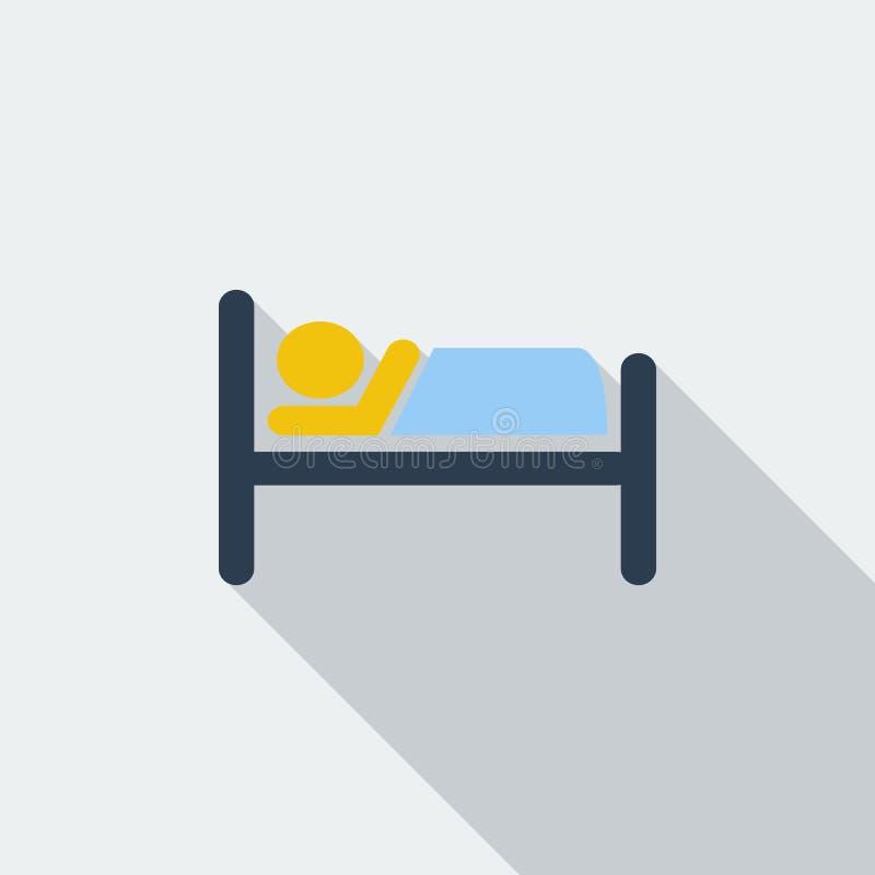 Значок гостиницы одиночный бесплатная иллюстрация