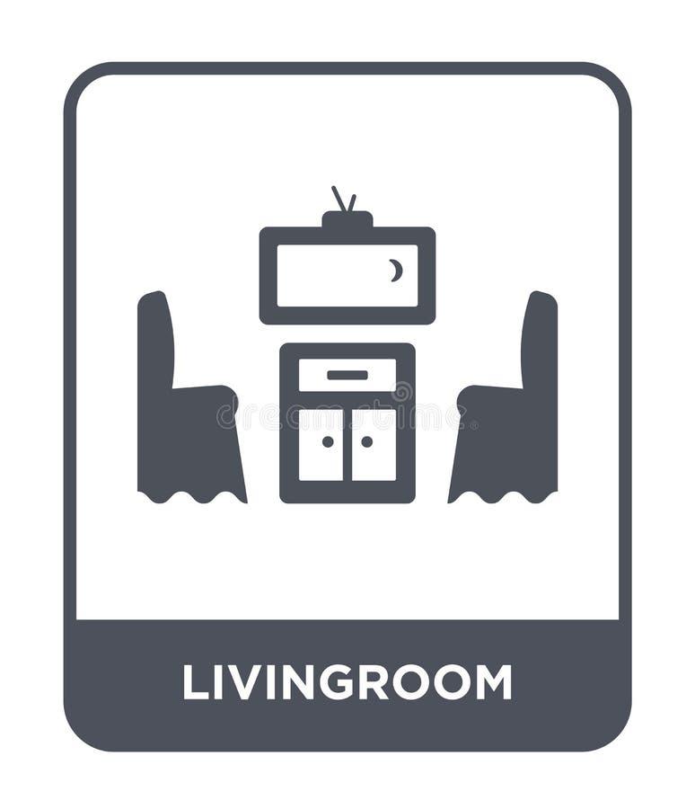 значок гостиной в ультрамодном стиле дизайна значок гостиной изолированный на белой предпосылке значок вектора гостиной простой и бесплатная иллюстрация