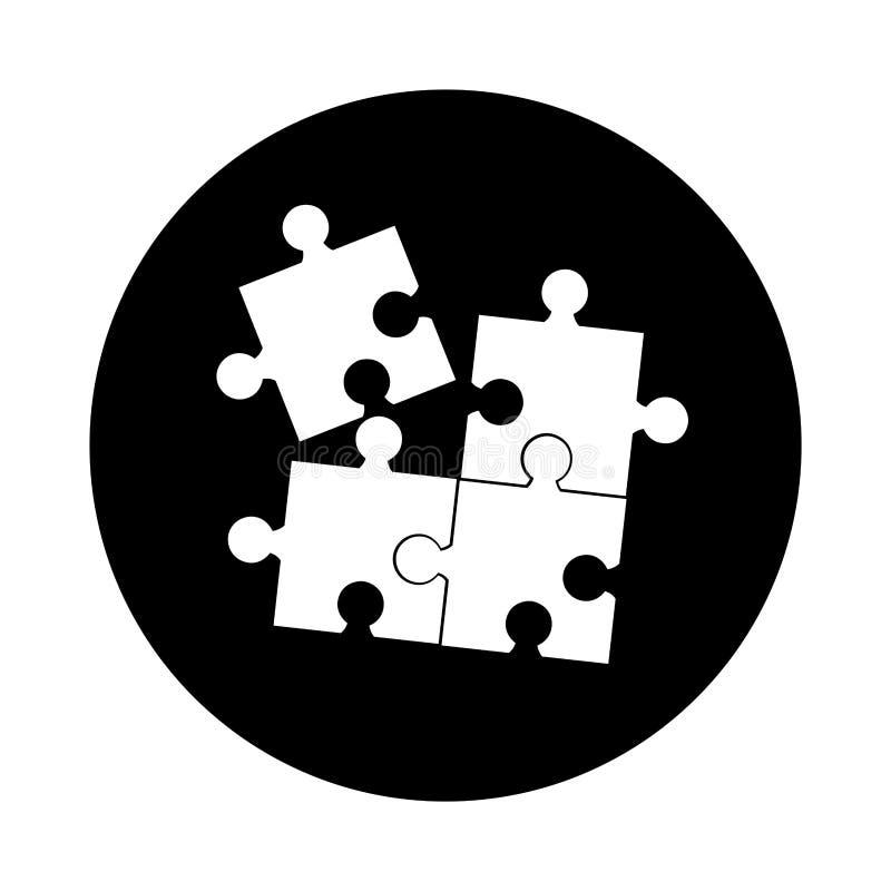 Значок головоломки изолированный игрой иллюстрация штока