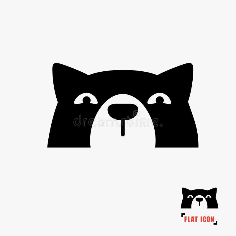 Значок головы собаки иллюстрация штока