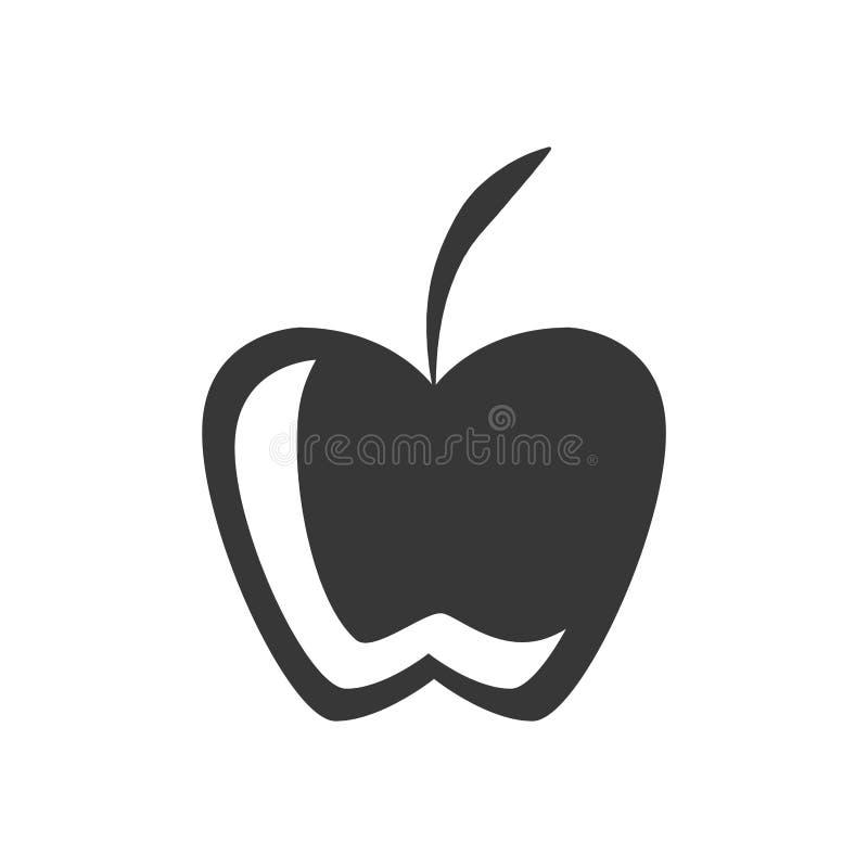Значок графика яблока плодоовощ силуэта бесплатная иллюстрация
