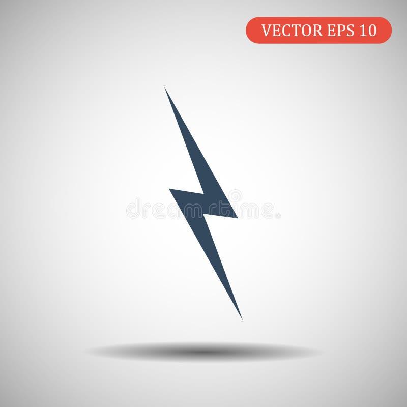 Значок грома Иллюстрация вектора в плоском стиле стоковые фотографии rf