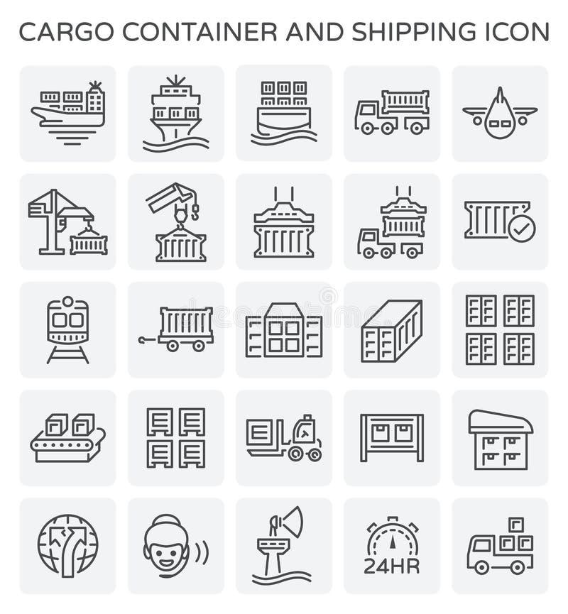 Значок грузового контейнера иллюстрация вектора