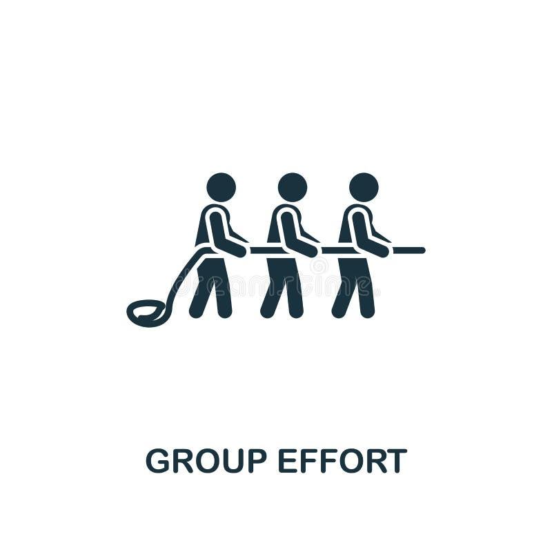 Значок группового усилия Наградной дизайн стиля от собрания сыгранности Ux и ui Значок группового усилия пиксела идеальный для ве иллюстрация штока