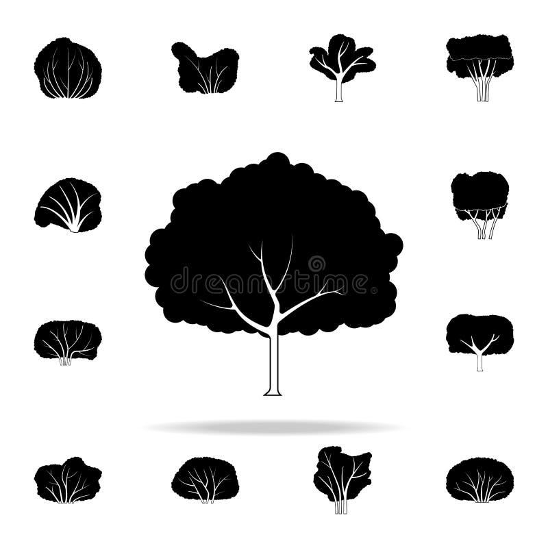 Значок грушевого дерев дерева Комплект значков заводов всеобщий для сети и черни иллюстрация штока