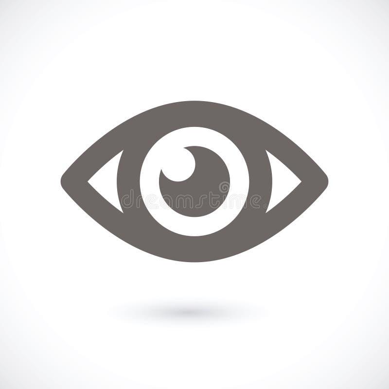 Значок глаза иллюстрация штока