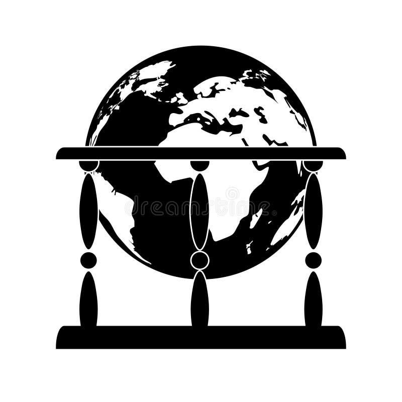 Значок глобуса бесплатная иллюстрация