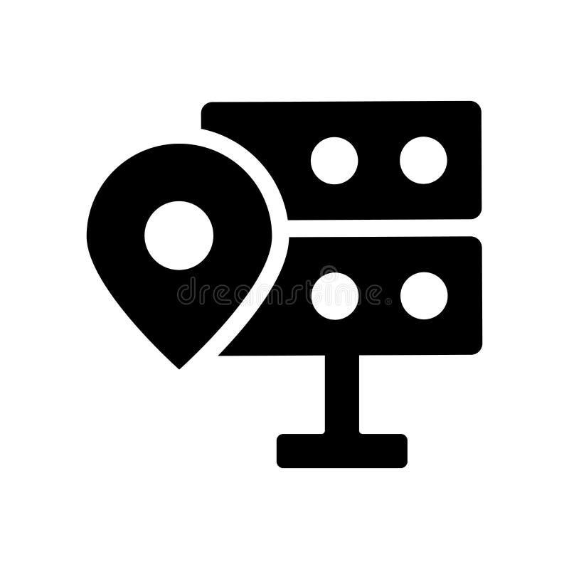 значок данным по положения Ультрамодная концепция логотипа данным по положения на белом b бесплатная иллюстрация