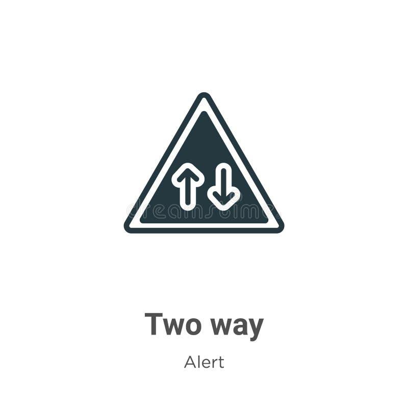 Значок двухстороннего вектора на белом фоне векторный двухсторонний знак символа из современной коллекции предупреждений для моби иллюстрация штока