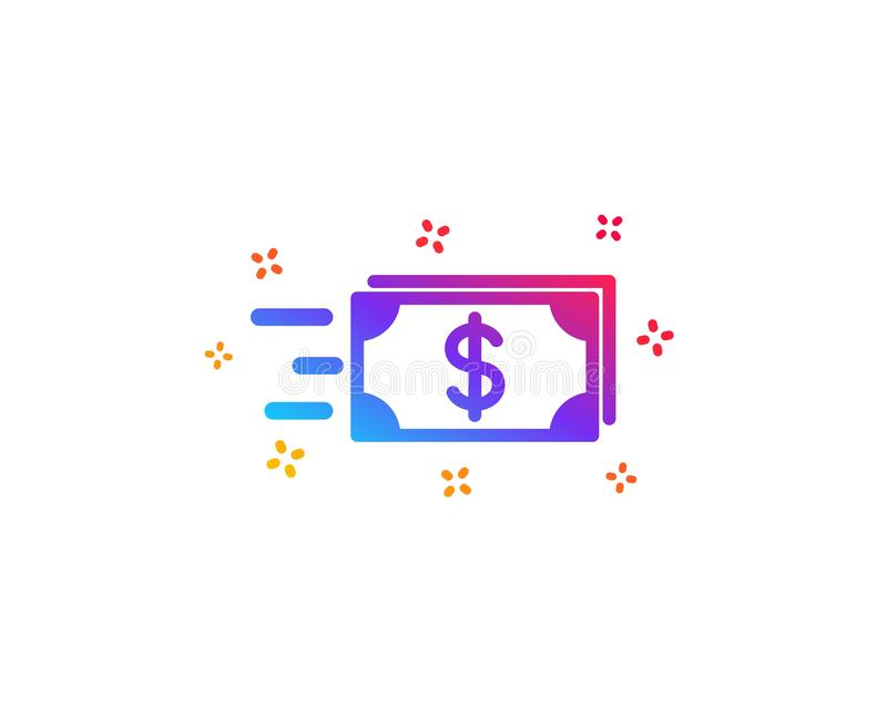 Значок денег наличных денег передачи banister r иллюстрация вектора
