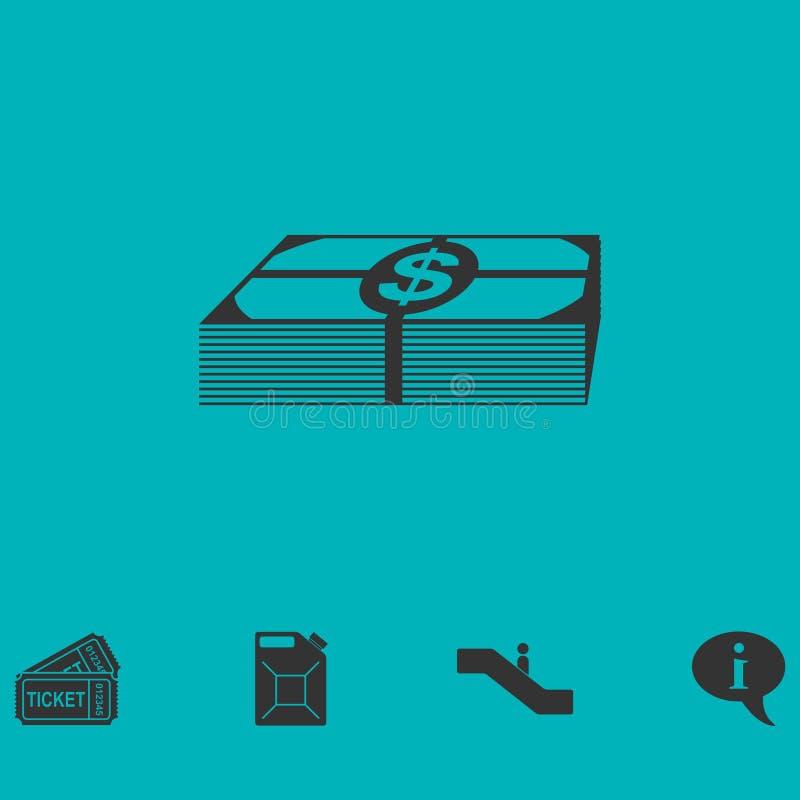 Значок денег пачки плоско бесплатная иллюстрация