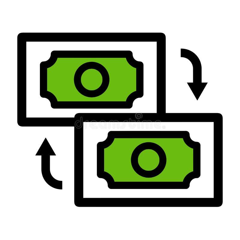 Значок денежного перевода r иллюстрация штока