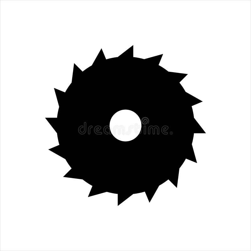 Значок детали шестерни механически изолировано иллюстрация штока