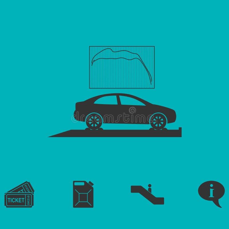 Значок диагностик автомобиля плоско иллюстрация штока