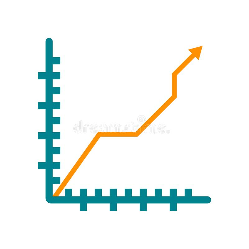 Значок диаграммы изолированный на белой предпосылке бесплатная иллюстрация