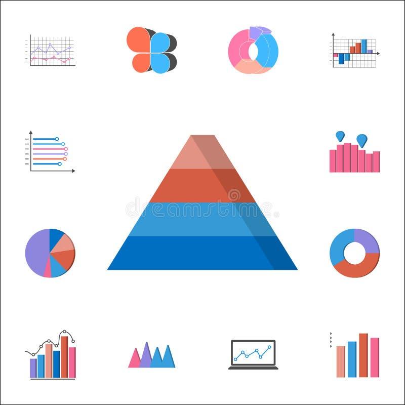 значок диаграммы пирамиды 3D Детальный комплект значков диаграмм & Diagramms Наградной качественный знак графического дизайна Оди бесплатная иллюстрация