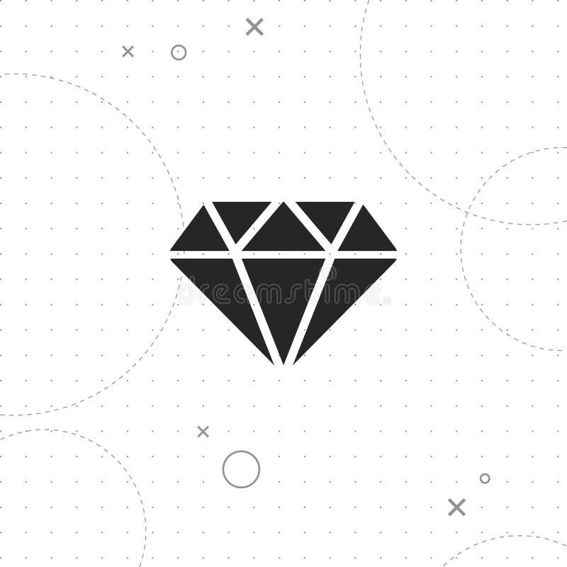 Значок диаманта иллюстрация вектора