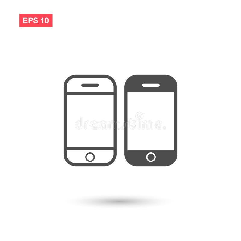 Значок дизайна вектора мобильного телефона изолировал иллюстрация штока