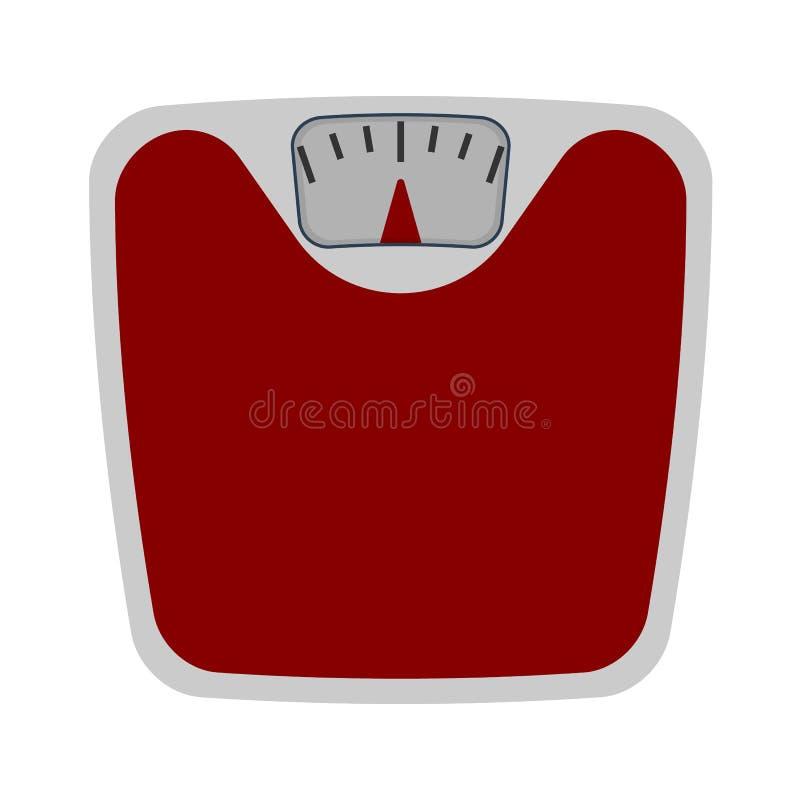 Значок дизайна масштаба ванной комнаты плоский иллюстрация вектора