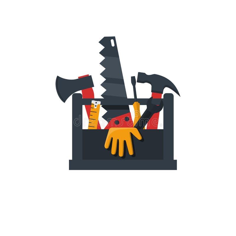 Значок дизайна Toolbox плоский бесплатная иллюстрация