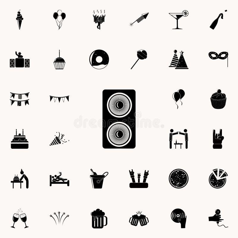 Значок дикторов Party комплект значков всеобщий для сети и черни иллюстрация вектора